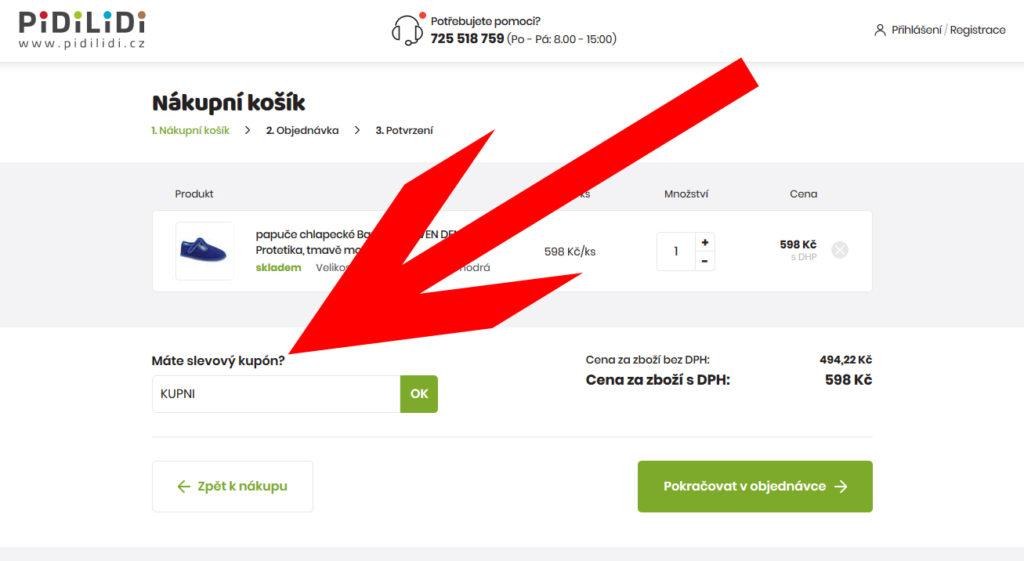 Pidilidi.cz slevový kupón