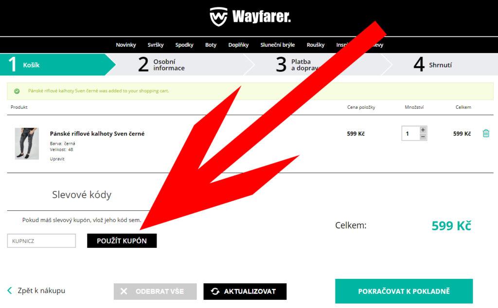 Wayfarer slevový kod